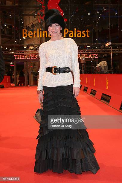 Iris Berben attends the Opening Party 64th Berlinale International Film Festival at Berlinale Palast on February 06 2014 in Berlin Germany