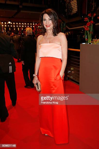 Iris Berben attends the opening party of the 66th Berlinale International Film Festival Berlin at Berlinale Palace on February 11 2016 in Berlin...