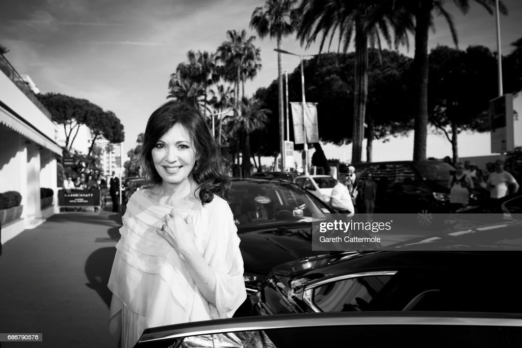 Iris Berben departs the Martinez Hotel on May 21, 2017 in Cannes, France.