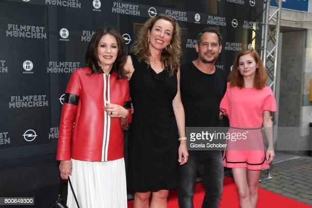 Iris Berben Diana Iljine Moritz Bleibtreu and Josefine Preuss during the premiere of 'Ferdinand von Schirach Schuld Staffel 2 ' at Gloria Palast on...