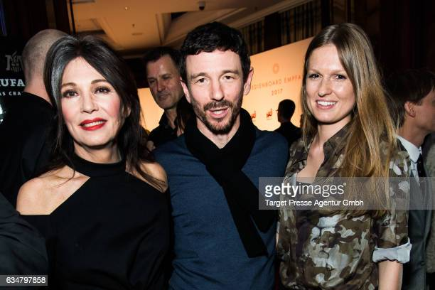 Iris Berben her son Oliver and his wife Katrin attend the Medienboard BerlinBrandenburg Reception during the 67th Berlinale International Film...