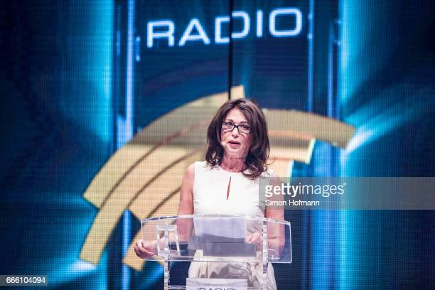 Iris Berben holds a speech during the Radio Regenbogen Award 2017 at Europapark on April 7 2017 in Rust Germany