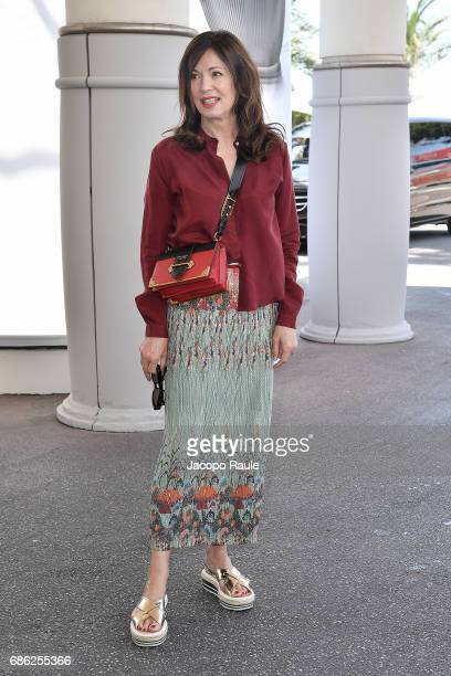 Iris Berben is spotted at Hotel Martinez during the 70th annual Cannes Film Festival at on May 21 2017 in Cannes France