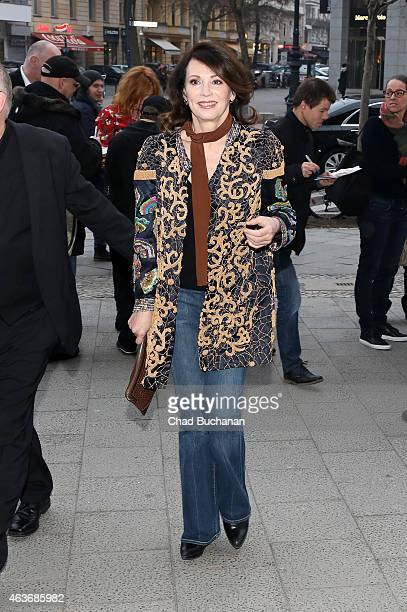 Iris Berben sighted at the Apple Store on Kurfeurstendamm on February 17 2015 in Berlin Germany
