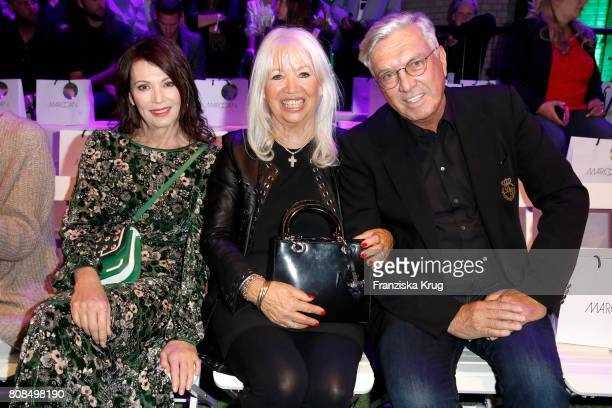 Iris Berben Ute Schlotterer and her husband Helmut Schlotterer Founder and CEO of Marc Cain attend the Marc Cain Fashion Show Spring/Summer 2018 at...