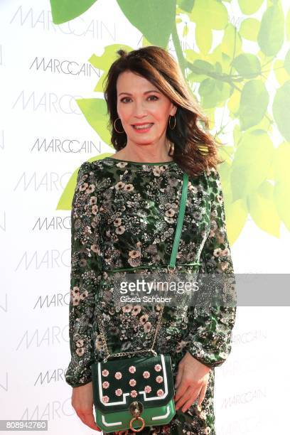 Iris Berben wearing a dress by Marc Cain during the Marc Cain Fashion Show Spring/Summer 2018 at ewerk on July 4 2017 in Berlin Germany