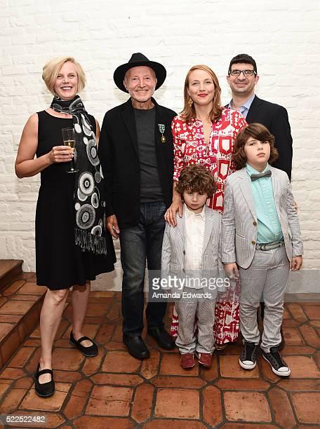 Iris Klein literary critic cultural theorist and honoree Sylvere Lotringer Nico Marano Mia Marano Gabriel Marano and Jonah Marano attend the l'Ordre...