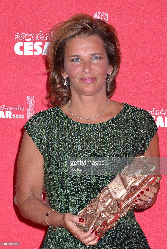 Iris Knobloch, President of Warner Bros France poses with the Ben Affleck's award for Argo during the Awards Room - Cesar Film Awards 2013 at the Theatre du Chatelet on February 22, 2013 in Paris, France.