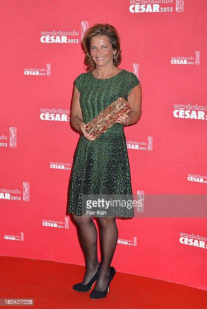 Iris Knobloch President of Warner Bros France poses with the Ben Affleck's award for Argo during the Awards Room Cesar Film Awards 2013 at the...