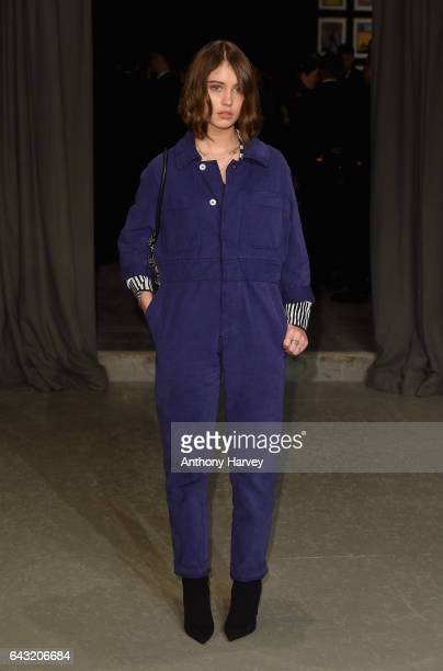 Iris Law attends the Burberry show during the London Fashion Week February 2017 collections on February 20 2017 in London England