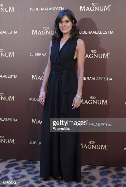 Iris Lezcano attends the Magnum new campaign presentation party at the Palacete de Fortuny on June 14 2017 in Madrid Spain