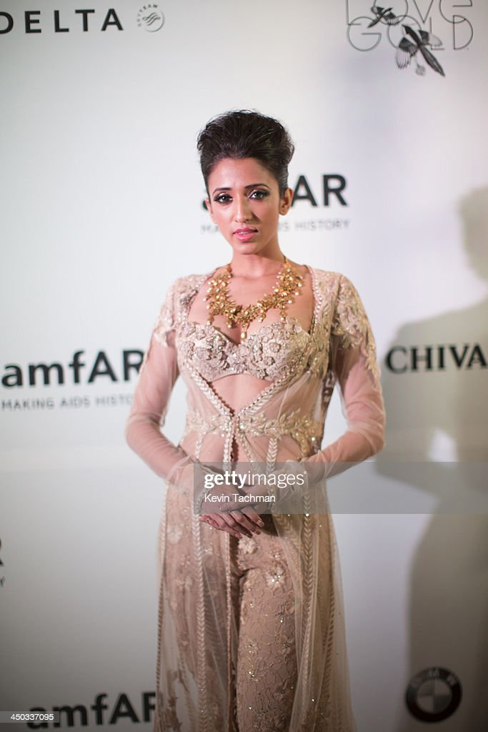 Iris Maity attends the inaugural amfAR India event at the Taj Mahal Palace Mumbai on November 17, 2013 in Mumbai, India.
