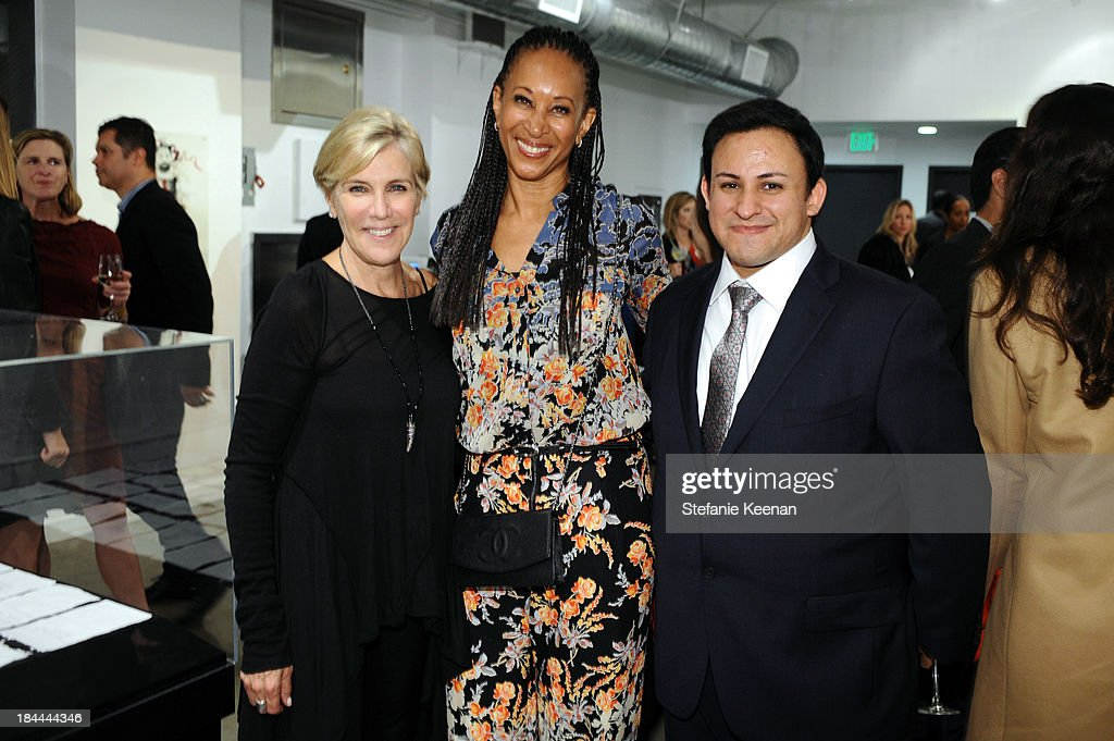 Iris Marden, Joy Simmions and Cesar Garcia attend The Mistake Room's Benefit Auction on October 13, 2013 in Los Angeles, California.