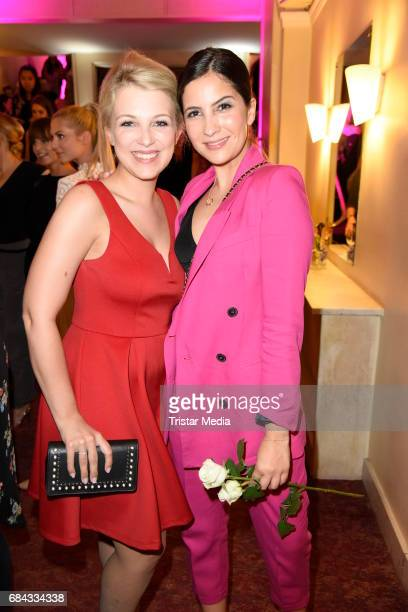 Iris Mareike Steen and Chryssanthi Kavazi attend the 25th anniversary party of the TV show 'GZSZ' on May 17 2017 in Berlin Germany