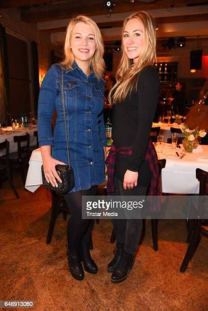 Iris Mareike Steen and Sina Tkotsch attend the Ernsting's family Music Fashion Dinner on March 1 2017 in Berlin Germany