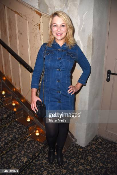 Iris Mareike Steen attends the Ernsting's family Music Fashion Dinner on March 1 2017 in Berlin Germany
