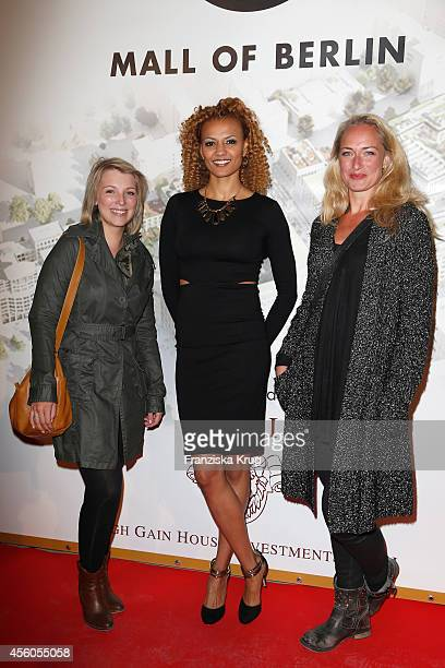 Iris Mareike Steen Francisca Urio and EvaMona Rodekirchen attend the 'LP 12 Mall of Berlin' PreOpening on September 24 2014 in Berlin Germany