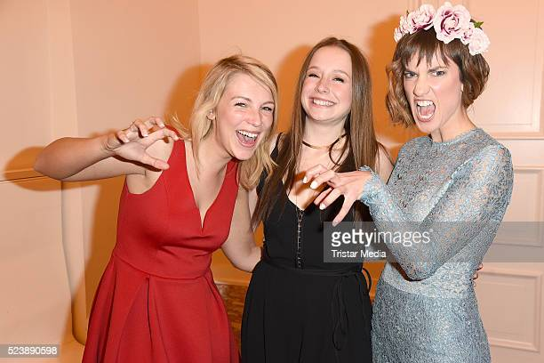 Iris Mareike Steen SentaSofia Delliponti and Isabell Horn attend the 'Tanz der Vampire' Musical Premiere on April 24 2016 in Berlin Germany