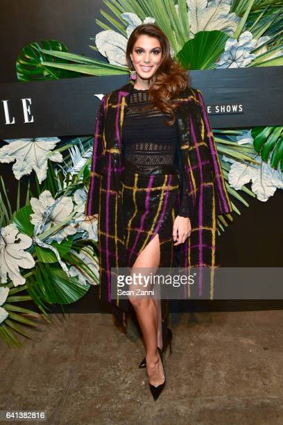 Iris Mittenaere attends ELLE E And IMG Host New York Fashion Week February 2017 KickOff Event at 40 Bethune Street on February 8 2017 in New York City