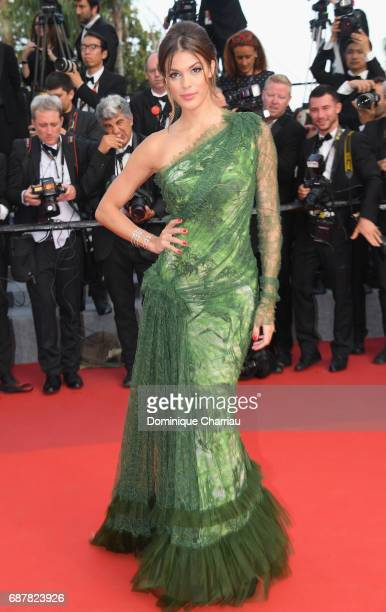 Iris Mittenaere attends 'The Beguiled' premiere during the 70th annual Cannes Film Festival at Palais des Festivals on May 24 2017 in Cannes France