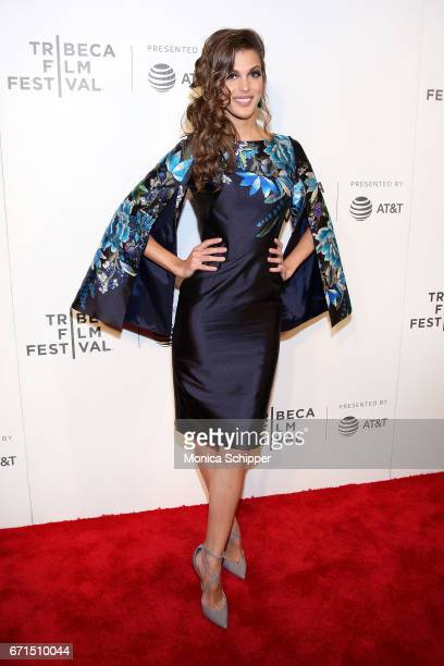 Iris Mittenaere attends the premiere of 'The Handmaid's Tale' during Tribeca Film Festival at BMCC Tribeca PAC on April 21 2017 in New York City