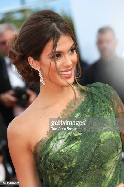 Iris Mittenaere attends the 'The Beguiled' screening during the 70th annual Cannes Film Festival at Palais des Festivals on May 24 2017 in Cannes...
