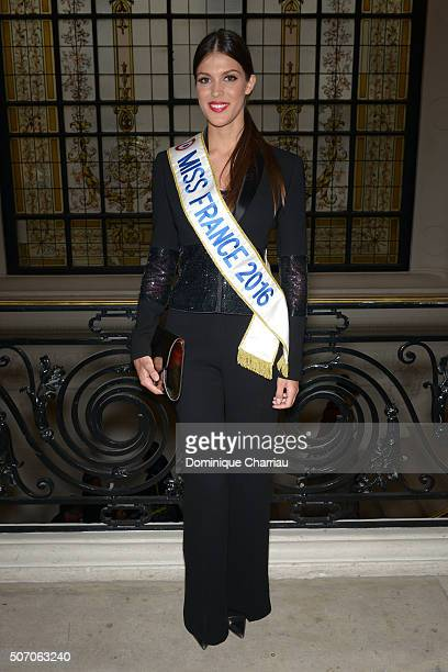 Iris Mittenaere Miss France 2016 attends the JeanPaul Gaultier Haute Couture Spring Summer 2016 show as part of Paris Fashion Week on January 27 2016...