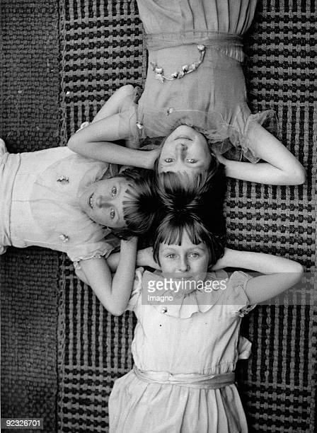 Iris Myra and Dorothy portrait of the triplets Photograph 1937