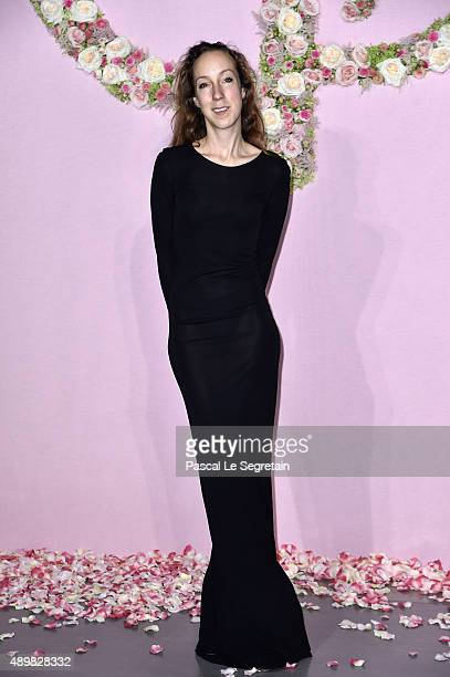 Iris van Herpen attends a photocall during The Ballet National de Paris Opening Season Gala at Opera Garnier on September 24 2015 in Paris France