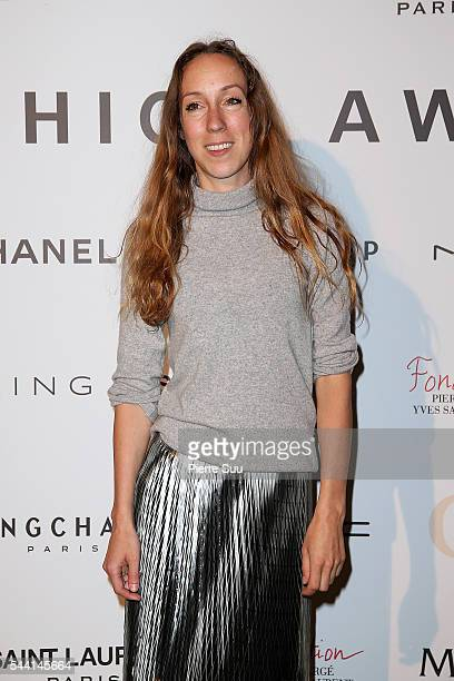Iris Van Herpen attends the ANDAM Fashion Award Coktail Party at Ministere de la Culture on July 1 2016 in Paris France