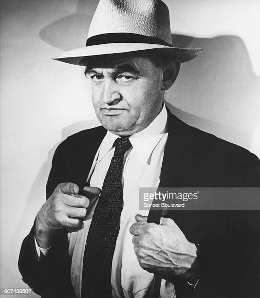 Irish actor Barry Fitzgerald on the set of The Naked City directed by Jules Dassin