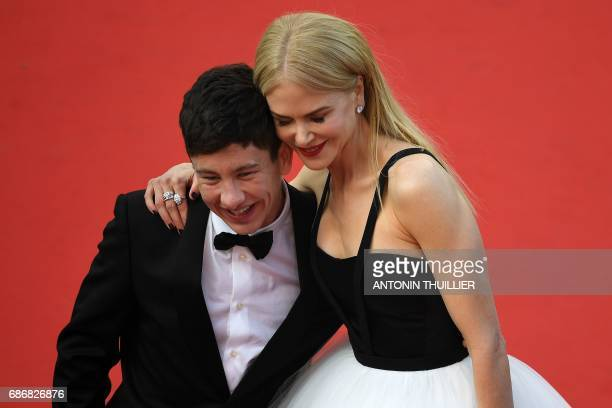 Irish actor Barry Keoghan and Australian actress Nicole Kidman pose as they arrive on May 22 2017 for the screening of the film 'The Killing of a...