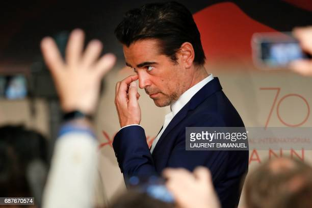 Irish actor Colin Farrell arrives on May 24 2017 for a press conference for the film 'The Beguiled' at the 70th edition of the Cannes Film Festival...