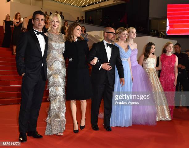 Irish actor Colin Farrell Australian actrees Nicole Kidman US director Sofia CoppolaUS actress Kirsten Dunst US actress Elle Fanning and US actress...
