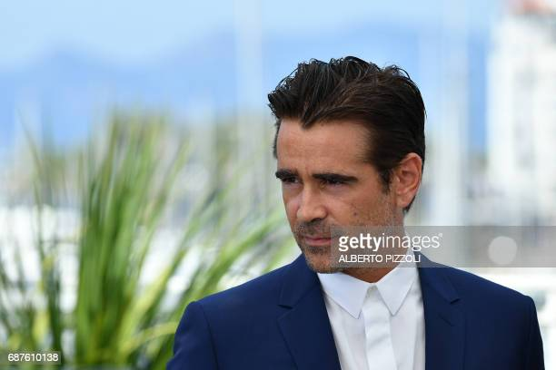 Irish actor Colin Farrell poses on May 24 2017 during a photocall for the film 'The Beguiled' at the 70th edition of the Cannes Film Festival in...