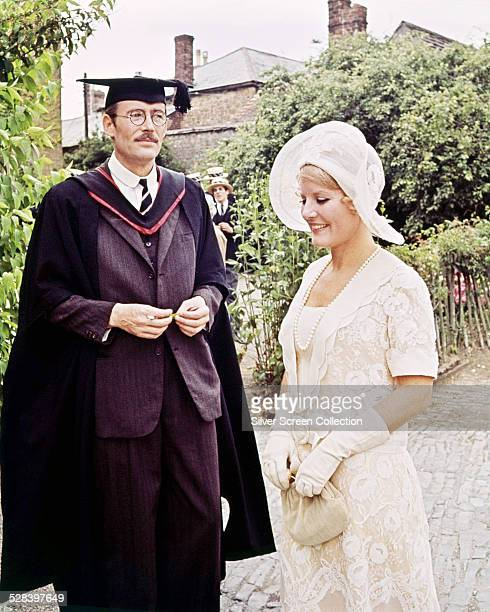 Irish actor Peter O'Toole as Arthur Chipping and English singer and actress Petula Clark as Katherine Bridges in 'Goodbye Mr Chips' directed by...