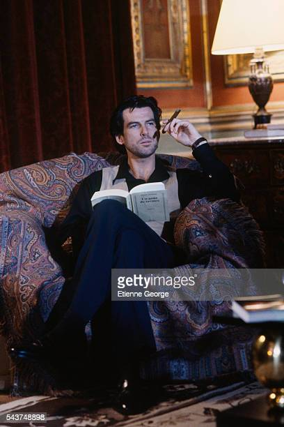 Irish actor Pierce Brosnan on the set of 'Entangled' directed by Max Fisher The movie is based on 'Les Veufs' written by Pierre Boileau and Pierre...