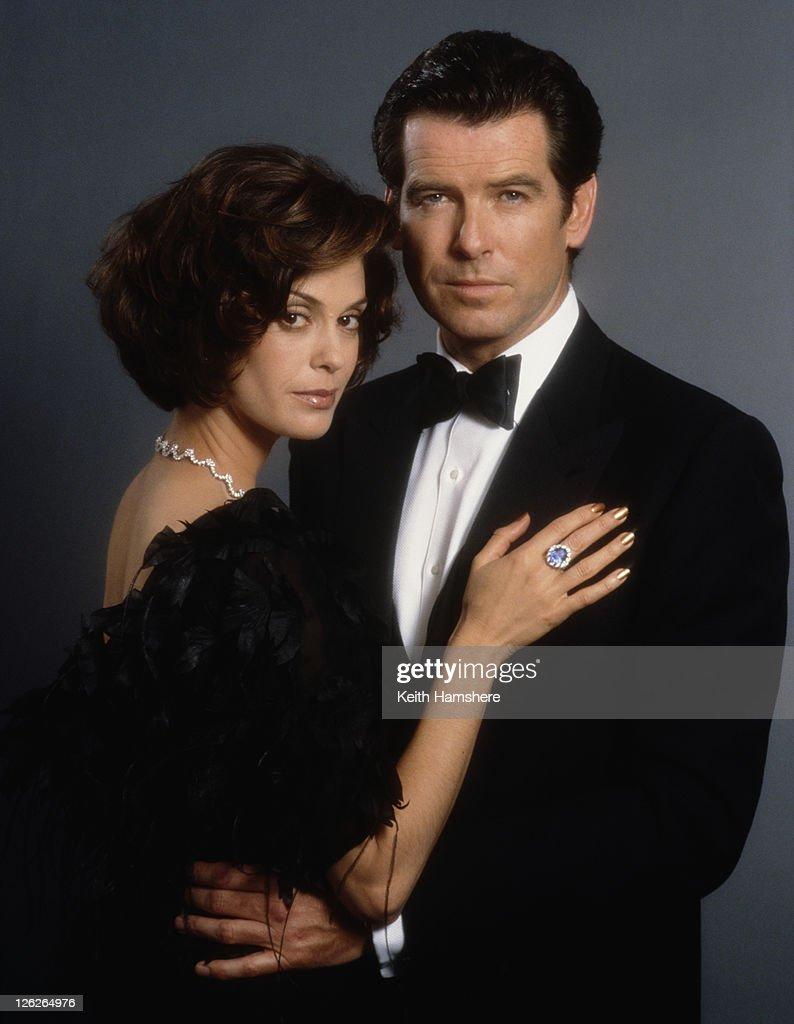 Irish actor Pierce Brosnan stars as 007 opposite actress Teri Hatcher as Paris Carver in the James Bond film 'Tomorrow Never Dies' 1997.