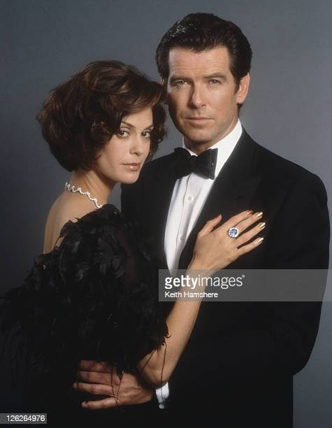 Irish actor Pierce Brosnan stars as 007 opposite actress Teri Hatcher as Paris Carver in the James Bond film 'Tomorrow Never Dies' 1997