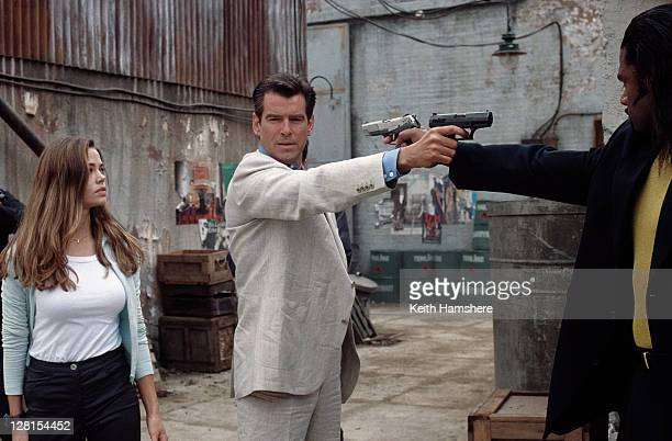Irish actor Pierce Brosnan stars as 007 opposite American actress Denise Richards as Dr Christmas Jones in the James Bond film 'The World Is Not...