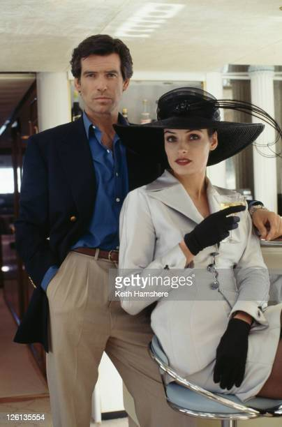 Irish actor Pierce Brosnan stars as James Bond alongside Dutchborn actress Famke Janssen as the villainous Xenia Onatopp in the film 'GoldenEye' 1995
