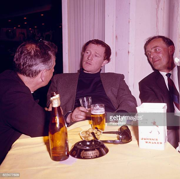 Irish actor Richard Harris pictured in centre at the Cannes Film Festival in France to accept the award for best actor for the film 'This Sporting...