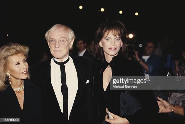 Irish actor Richard Harris with his exwives Welsh socialite Elizabeth ReesWilliams and American actress Ann Turkel New York City 1992