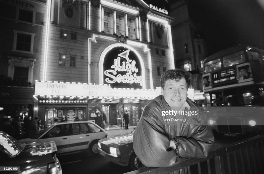Irish actor Stephen Rea outside the Victoria Palace Theatre London where he is appearing in a production of 'High Society' 20th February 1987