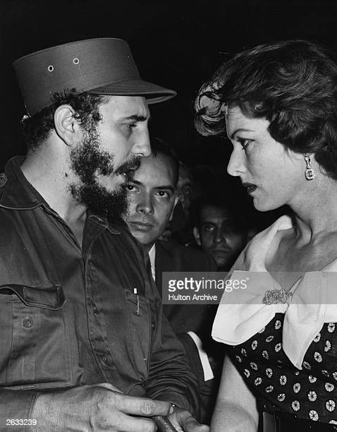 Irish actress Maureen O'Hara meets with Fidel Castro Original Publication People Disc HH0395
