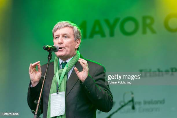 Irish Ambassador Dan Mulhall takes part in the annual St Patricks Day celebration on March 19 2017 in London United Kingdom PHOTOGRAPH BY Wiktor...