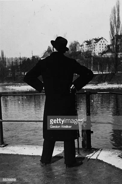 Irish author James Joyce in Zurich Switzerland where he died