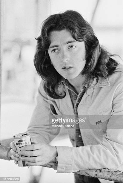 Irish bluesrock musician Rory Gallagher with a can of Pepsi 6th July 1972