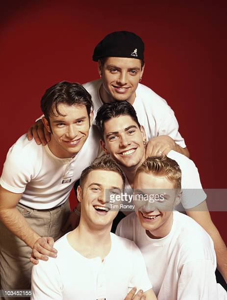 Irish boy band Boyzone circa 1995 Clockwise from centre left Stephen Gately Keith Duffy Shane Lynch Ronan Keating and Mikey Graham