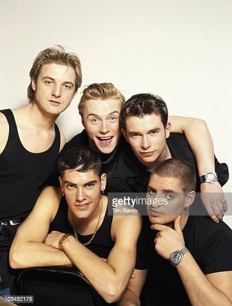 Irish boy band Boyzone circa 1995 Clockwise from top left Mikey Graham Ronan Keating Stephen Gately Keith Duffy and Shane Lynch